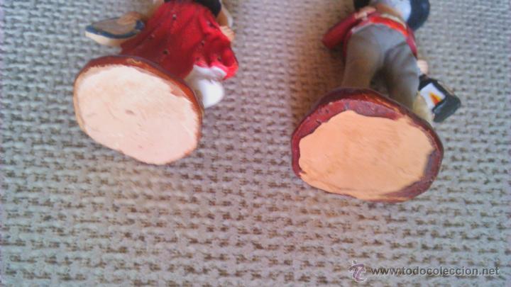 Arte: Colección de 4 mini esculturas de terracota.Hechas y pintadas a mano. Firmadas FLORA. - Foto 7 - 44306855