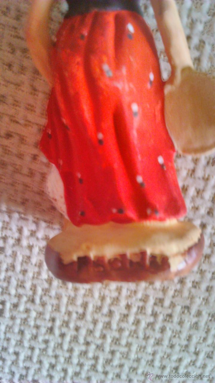 Arte: Colección de 4 mini esculturas de terracota.Hechas y pintadas a mano. Firmadas FLORA. - Foto 8 - 44306855