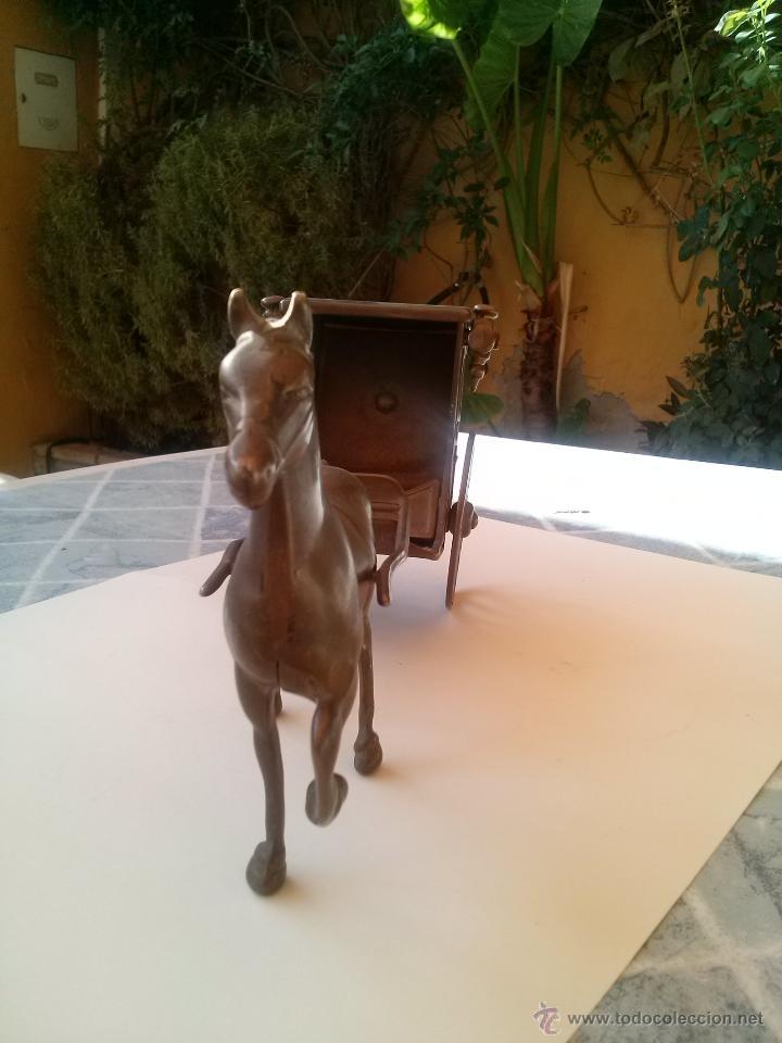 Arte: CABALLO Y CARRUAJE REALIZADO EN BRONCE - Foto 2 - 44813357