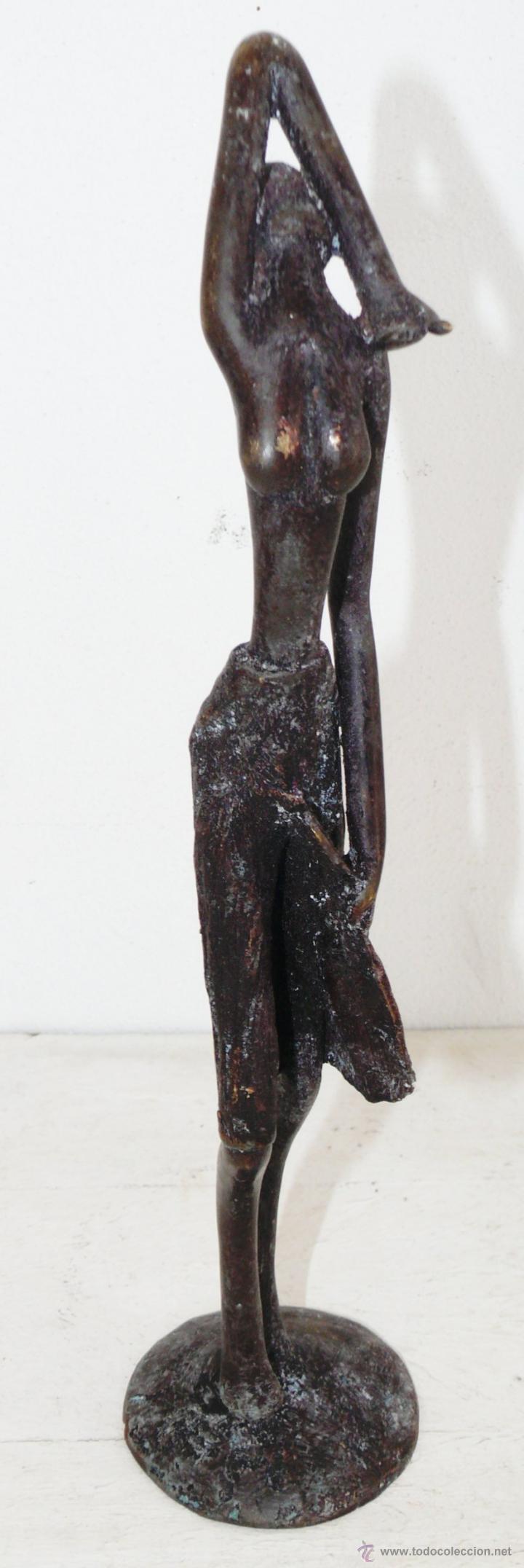 Arte: FANTASTICA ESCULTURA EN BRONCE MUJER AFRICANA - Foto 7 - 44877644