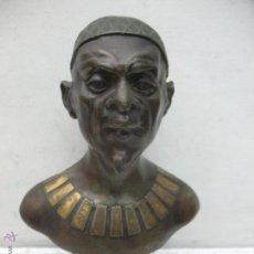 Arte: BUSTO EGIPCIO EN BRONCE. Lote 44927845