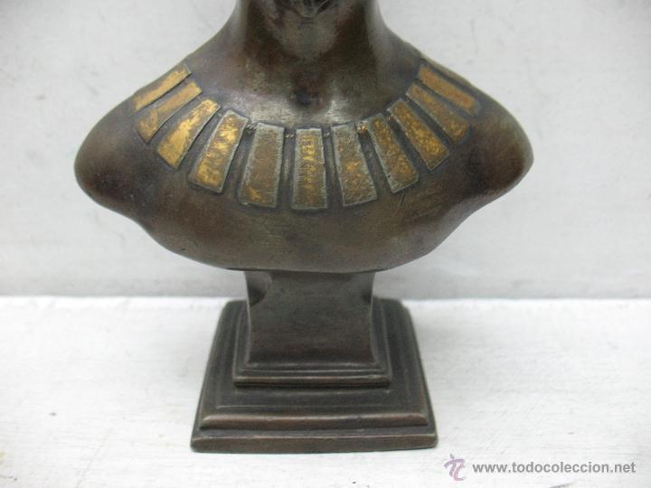 Arte: Busto Egipcio en Bronce - Foto 4 - 44927845
