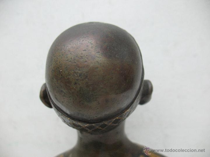 Arte: Busto Egipcio en Bronce - Foto 7 - 44927845