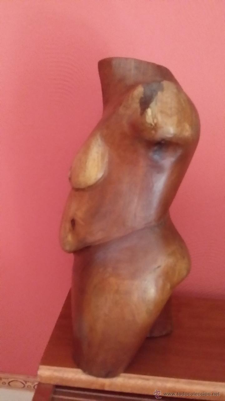 Arte: Figura femenina en madera / CUBA - Foto 2 - 45010415