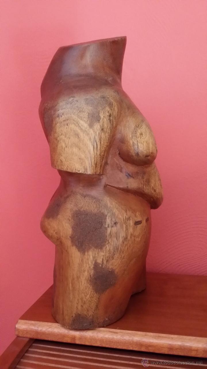Arte: Figura femenina en madera / CUBA - Foto 3 - 45010415