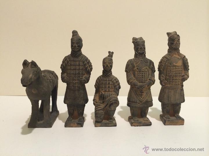 5 FIGURAS GUERREROS XIAN TERRACOTA (Arte - Escultura - Terracota )