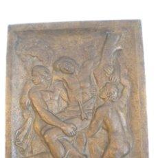 Arte: IMPORTANTE BAJO RELIEVE DE BRONCE, SAN SEBASTIAN DE JAUME MIR 1950'S.. Lote 45100004