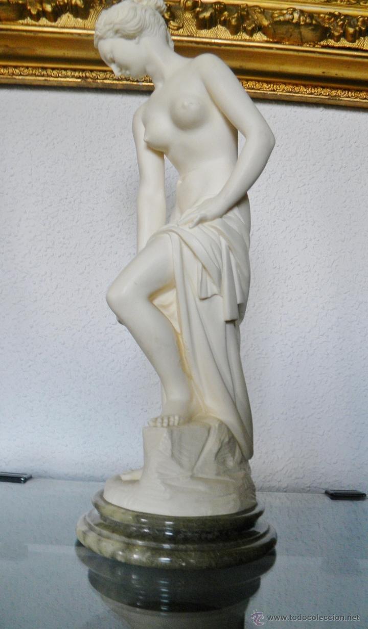 Arte: ARNALDO GIANNELLI ITALIA SIG XX ESCULTURA ALABASTRO DAMA DESNUDA ART NOUVEAU FIRMADA 38 CMS ca.1960 - Foto 9 - 45204045