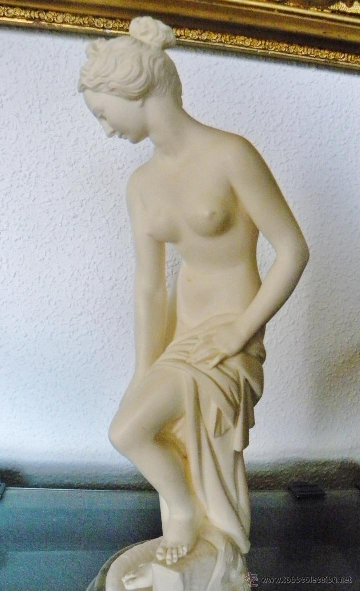 Arte: ARNALDO GIANNELLI ITALIA SIG XX ESCULTURA ALABASTRO DAMA DESNUDA ART NOUVEAU FIRMADA 38 CMS ca.1960 - Foto 10 - 45204045