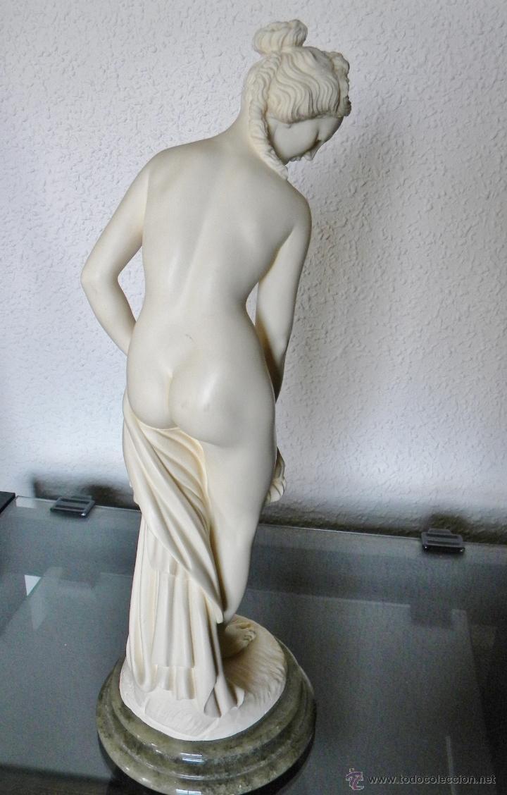 Arte: ARNALDO GIANNELLI ITALIA SIG XX ESCULTURA ALABASTRO DAMA DESNUDA ART NOUVEAU FIRMADA 38 CMS ca.1960 - Foto 12 - 45204045