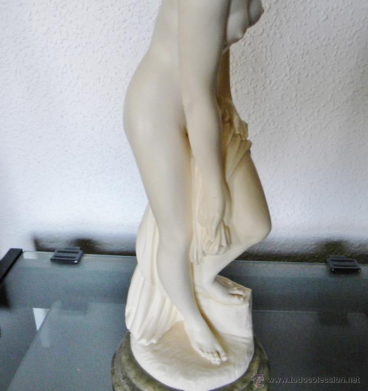 Arte: ARNALDO GIANNELLI ITALIA SIG XX ESCULTURA ALABASTRO DAMA DESNUDA ART NOUVEAU FIRMADA 38 CMS ca.1960 - Foto 14 - 45204045