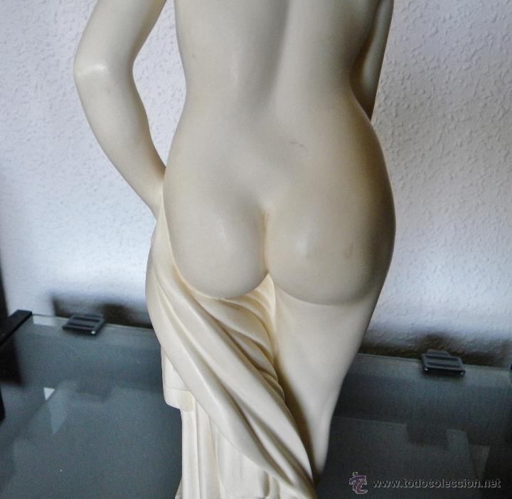 Arte: ARNALDO GIANNELLI ITALIA SIG XX ESCULTURA ALABASTRO DAMA DESNUDA ART NOUVEAU FIRMADA 38 CMS ca.1960 - Foto 18 - 45204045