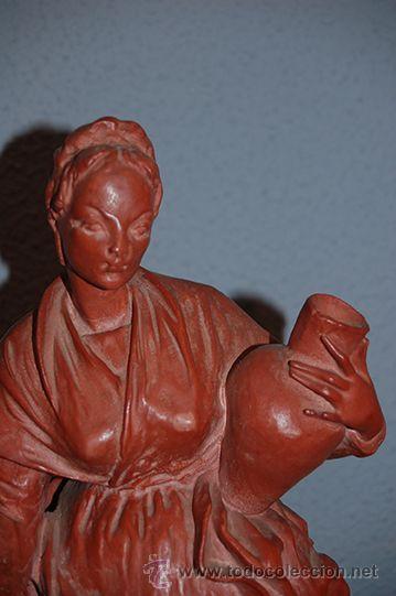Arte: Figura de terracota QUERA, siglo XX - Foto 2 - 45569493