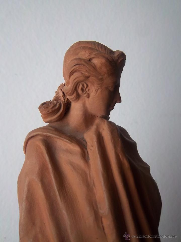 Arte: Pareja de barros de Antonio de las Peñas y León (Granada, 1815 - Sevilla 1887) Torero y Dama. - Foto 8 - 45623593
