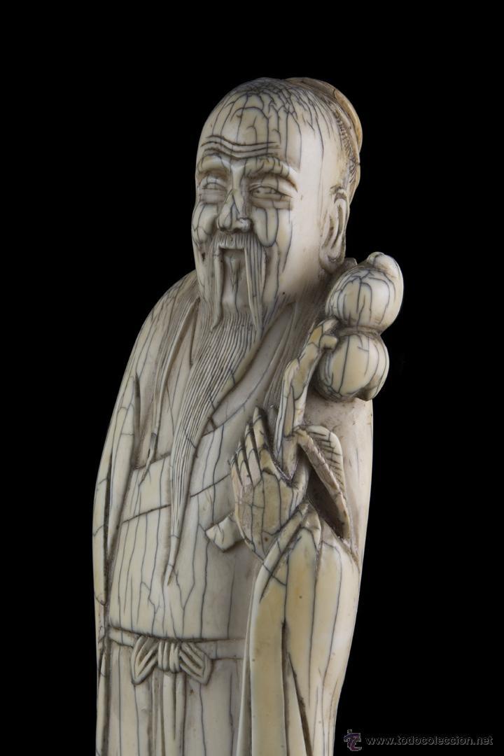 Arte: Escultura marfil. Siglo XVII Ming - Foto 2 - 45747426