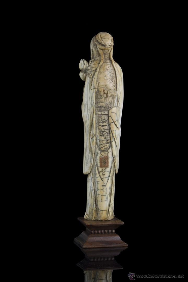 Arte: Escultura marfil. Siglo XVII Ming - Foto 3 - 45747426