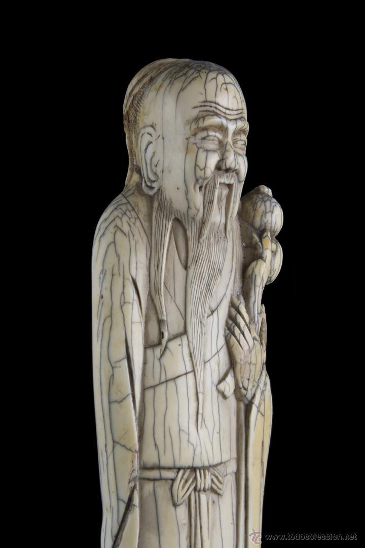 Arte: Escultura marfil. Siglo XVII Ming - Foto 4 - 45747426