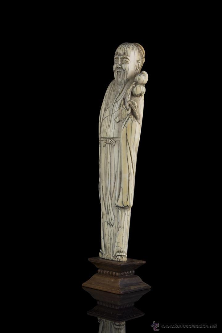 Arte: Escultura marfil. Siglo XVII Ming - Foto 5 - 45747426