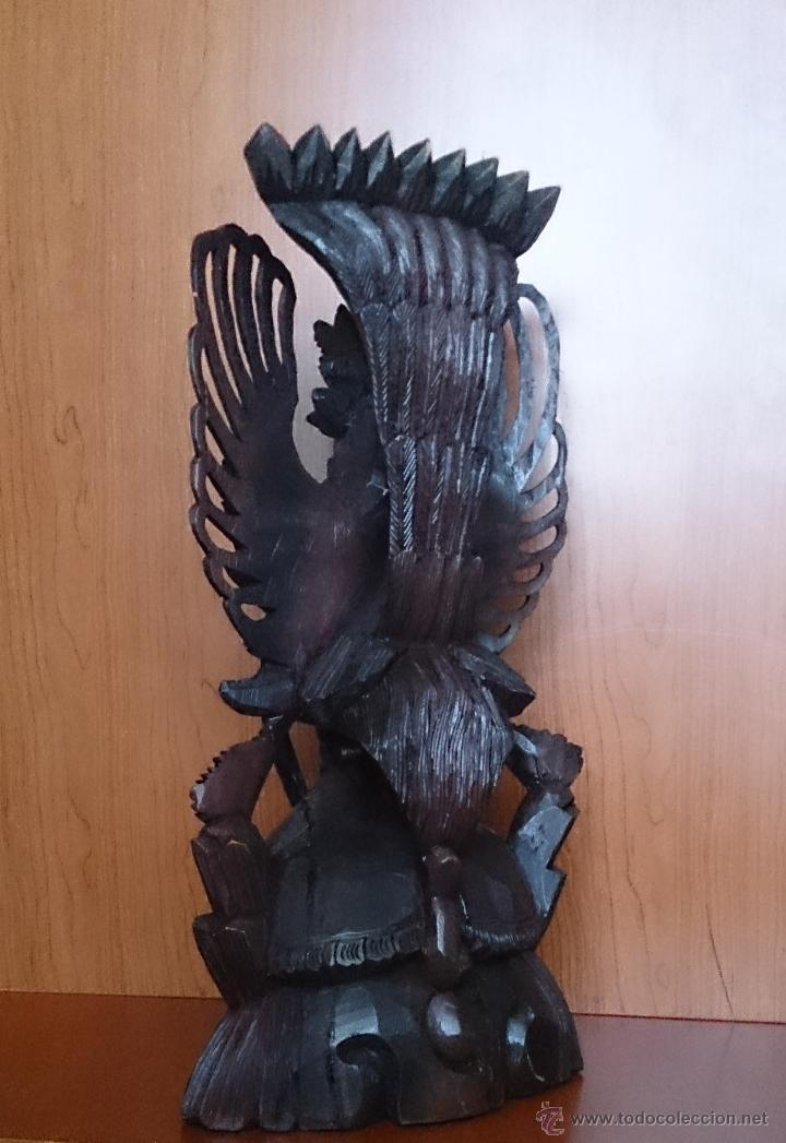 Arte: Antigua y bella talla de demonio de Indonesia en madera maciza . - Foto 7 - 45786868