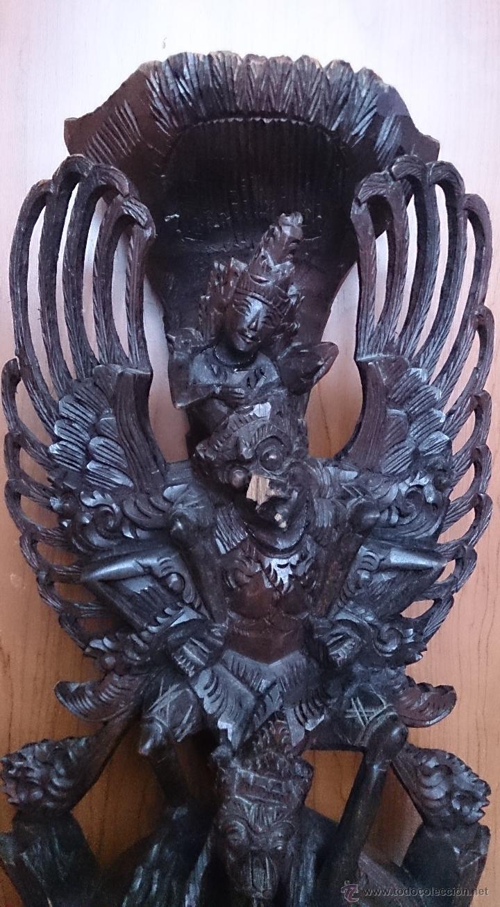 Arte: Antigua y bella talla de demonio de Indonesia en madera maciza . - Foto 12 - 45786868