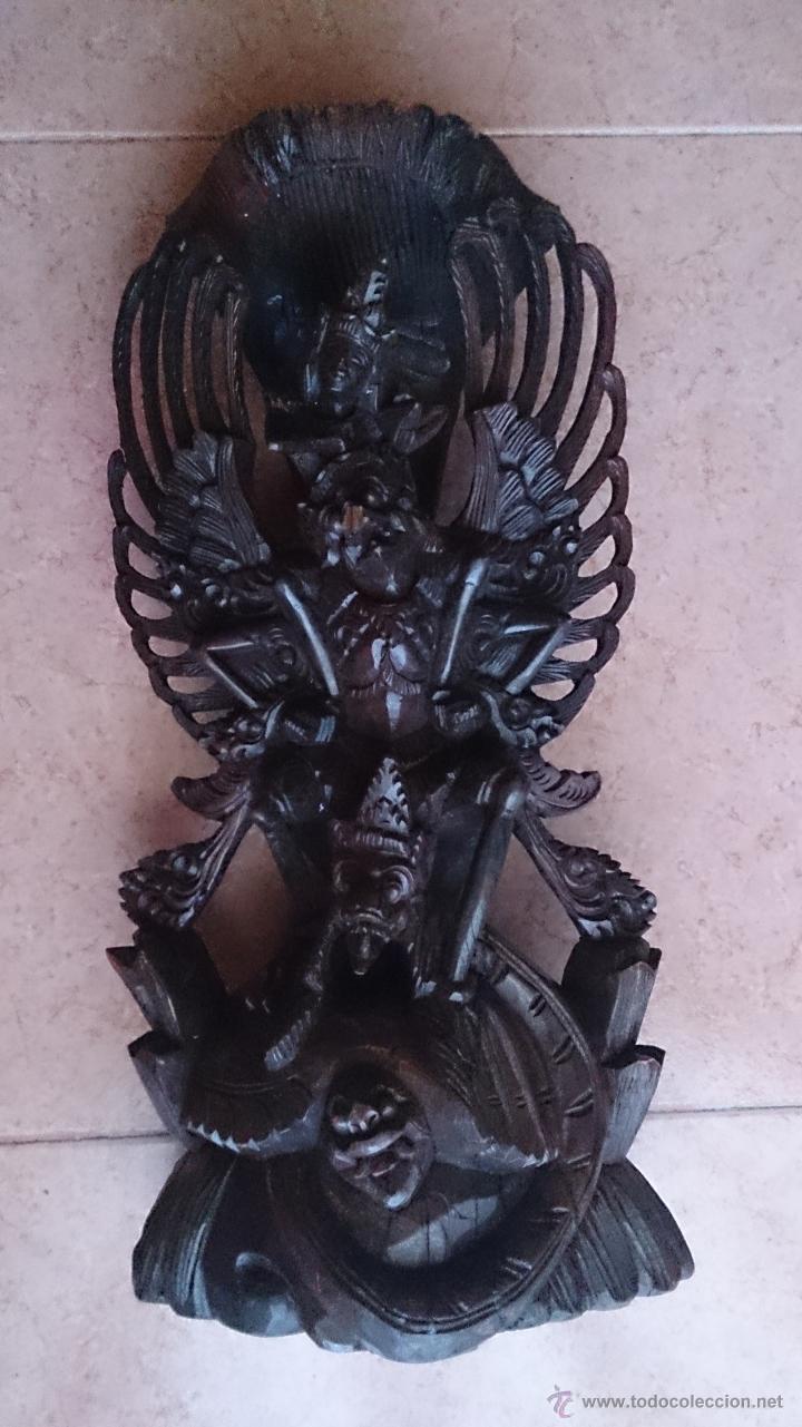 Arte: Antigua y bella talla de demonio de Indonesia en madera maciza . - Foto 21 - 45786868