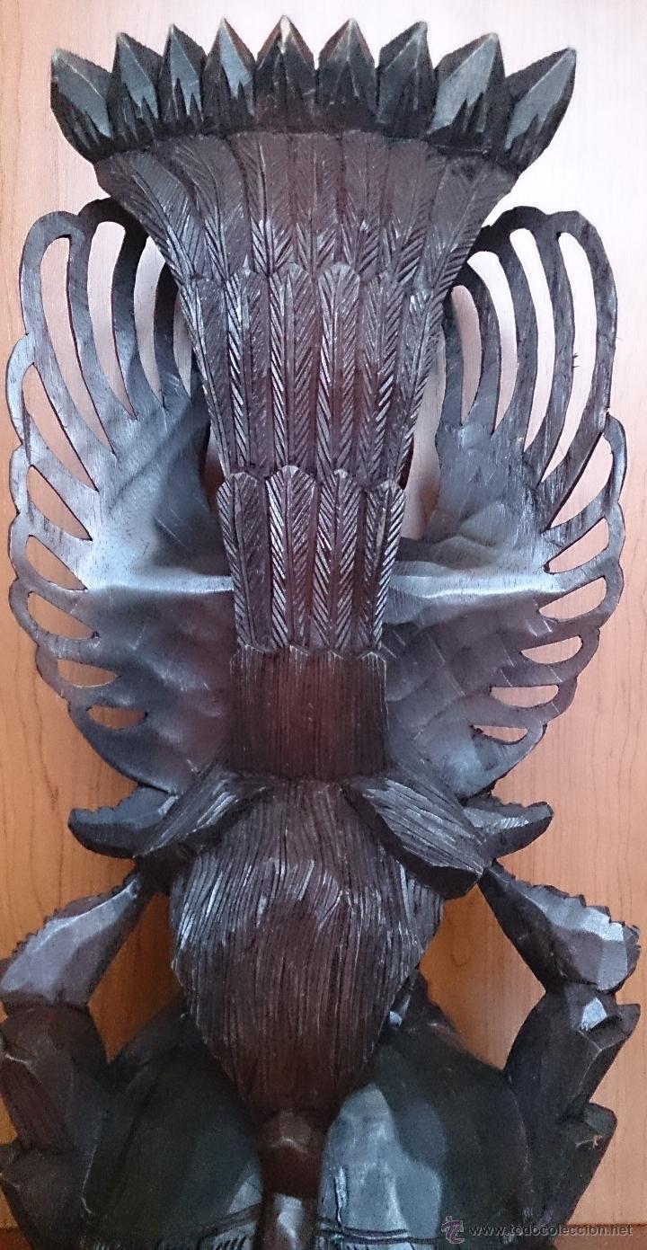 Arte: Antigua y bella talla de demonio de Indonesia en madera maciza . - Foto 27 - 45786868