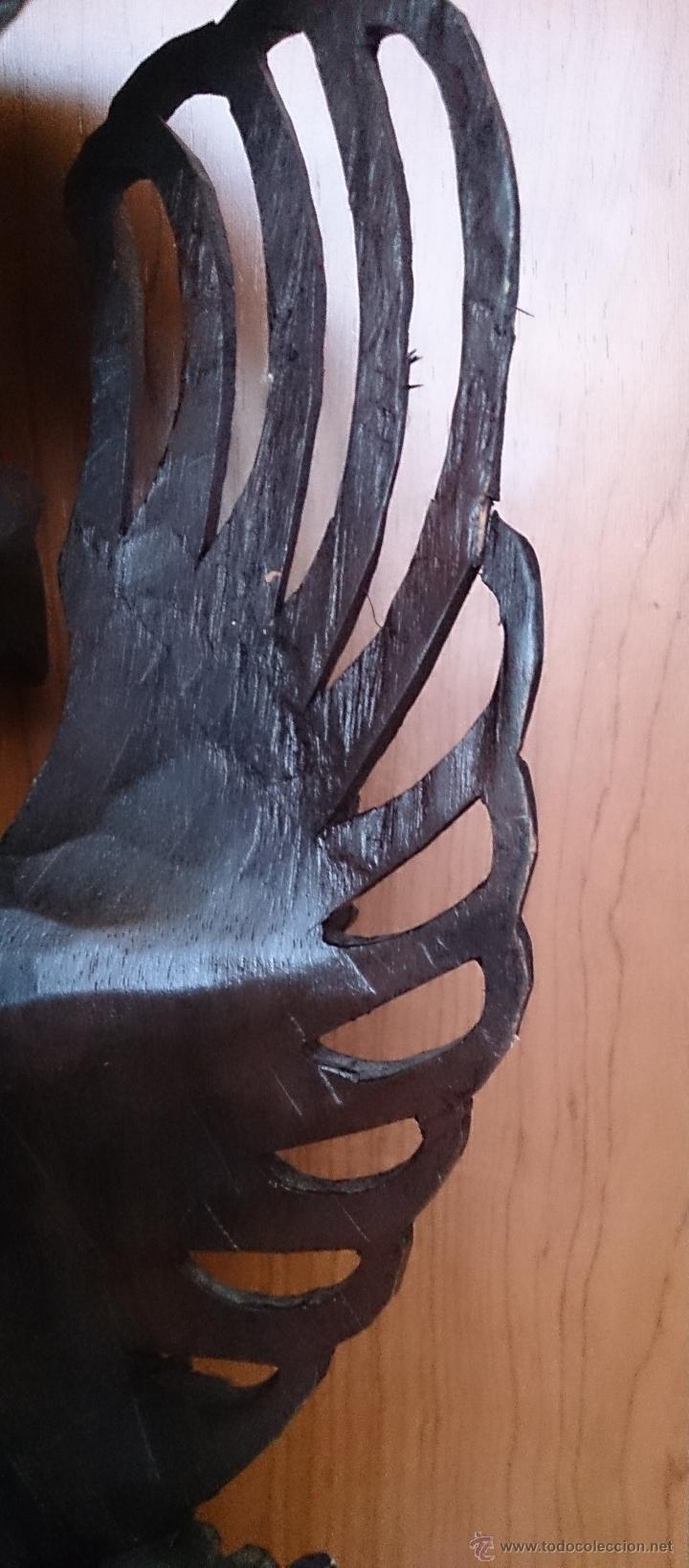 Arte: Antigua y bella talla de demonio de Indonesia en madera maciza . - Foto 28 - 45786868