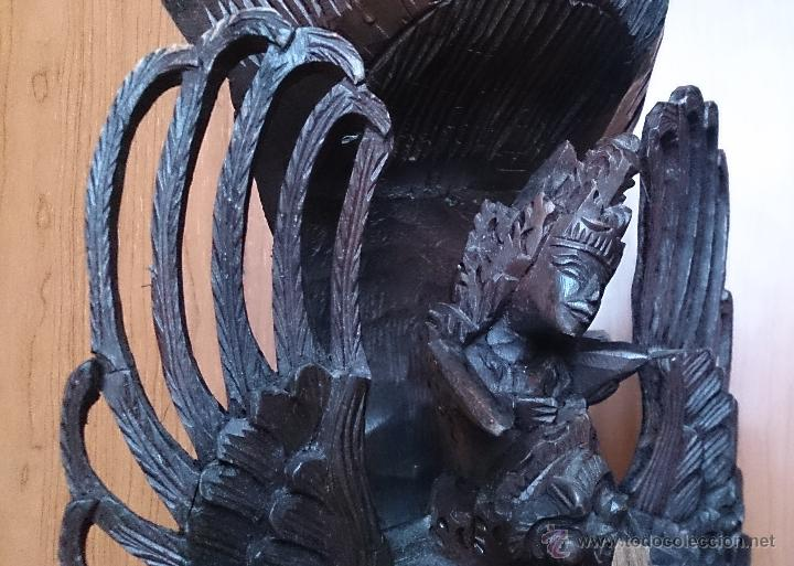 Arte: Antigua y bella talla de demonio de Indonesia en madera maciza . - Foto 30 - 45786868