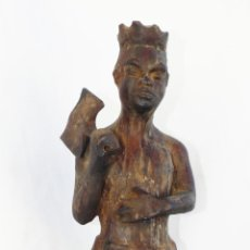 Arte: FANTASTICA FIGURA MADERA ORISHA SHANGU MUÑECO ANTIGUO TALLA NKUYO AFRICANO O XANGO BRASIL UMBANDA. Lote 57051266