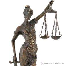 Arte: JUSTICIA - HERMOSA ESCULTURA DE LA MITOLOGÍA ROMANA EN BRONCE (25,7 CM & 1,3 KG). Lote 52934995