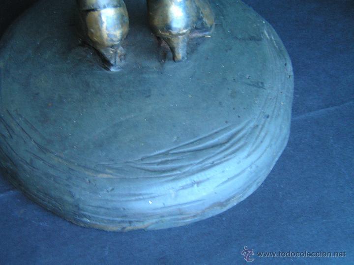 Arte: GRAN FIGURA DE BRONCE POLICROMADO. AÑOS 20. 52 cm. 4,83 Kg. PRECIOSA. - Foto 30 - 46323251