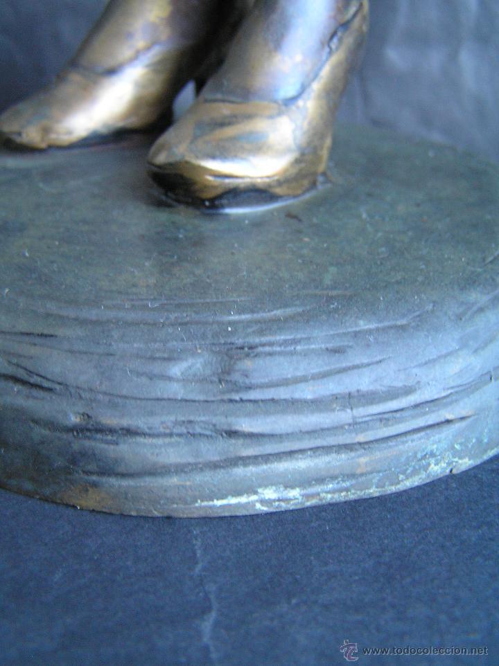 Arte: GRAN FIGURA DE BRONCE POLICROMADO. AÑOS 20. 52 cm. 4,83 Kg. PRECIOSA. - Foto 31 - 46323251