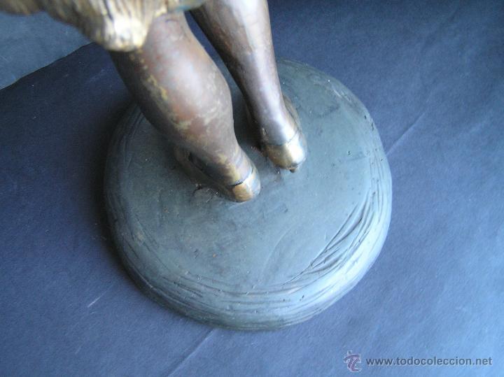 Arte: GRAN FIGURA DE BRONCE POLICROMADO. AÑOS 20. 52 cm. 4,83 Kg. PRECIOSA. - Foto 32 - 46323251
