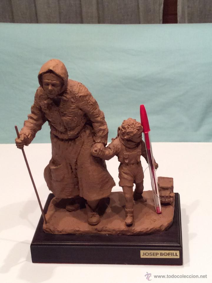 Arte: JOSEP BOFILL , escultura anciana con niño - Foto 4 - 46475518