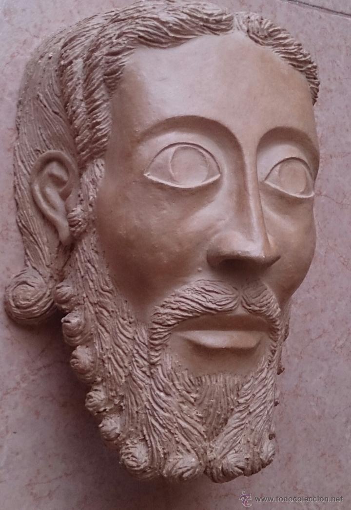 CABEZA ANTIGUA DE GRAN TAMAÑO ( CABEZA DE CRISTO ) . (Arte - Escultura - Terracota )