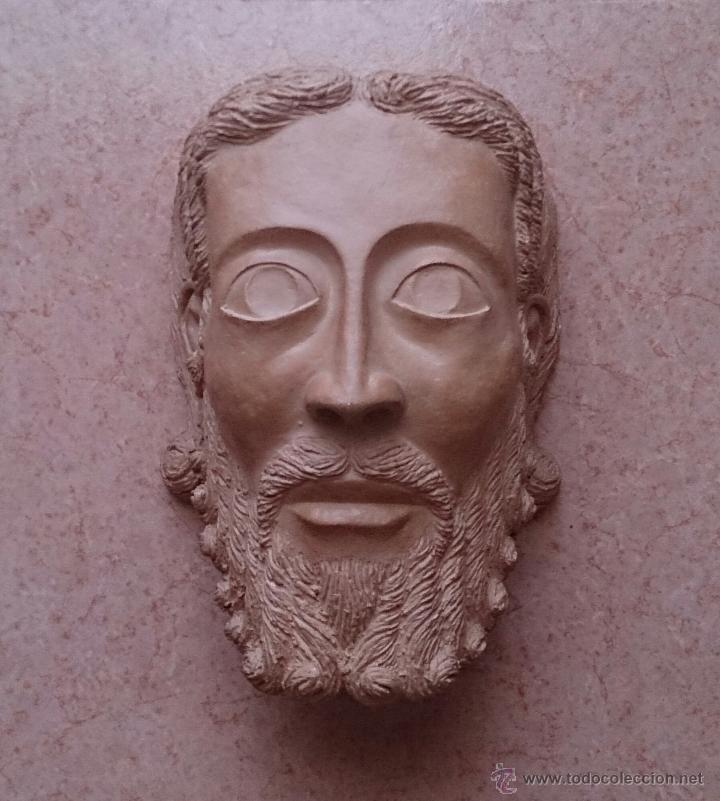 Arte: Cabeza antigua de gran tamaño ( cabeza de cristo ) . - Foto 2 - 46634954