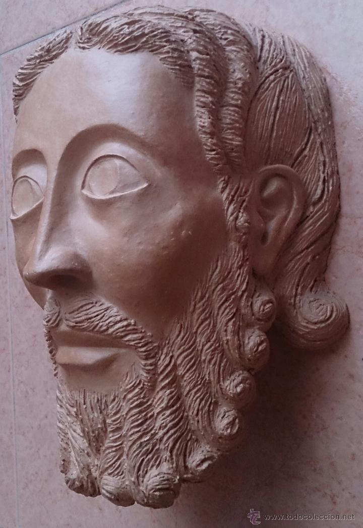 Arte: Cabeza antigua de gran tamaño ( cabeza de cristo ) . - Foto 3 - 46634954