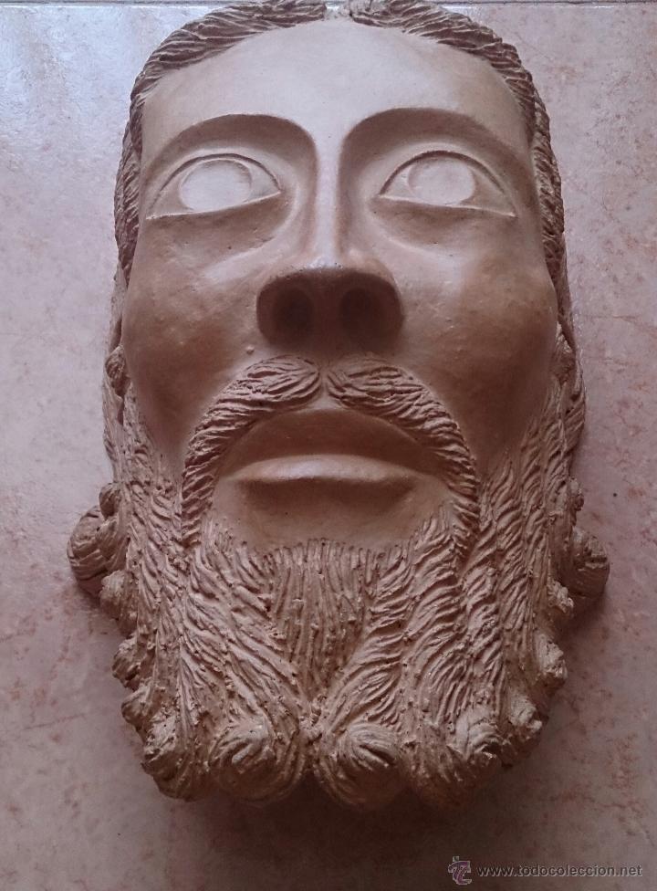 Arte: Cabeza antigua de gran tamaño ( cabeza de cristo ) . - Foto 4 - 46634954