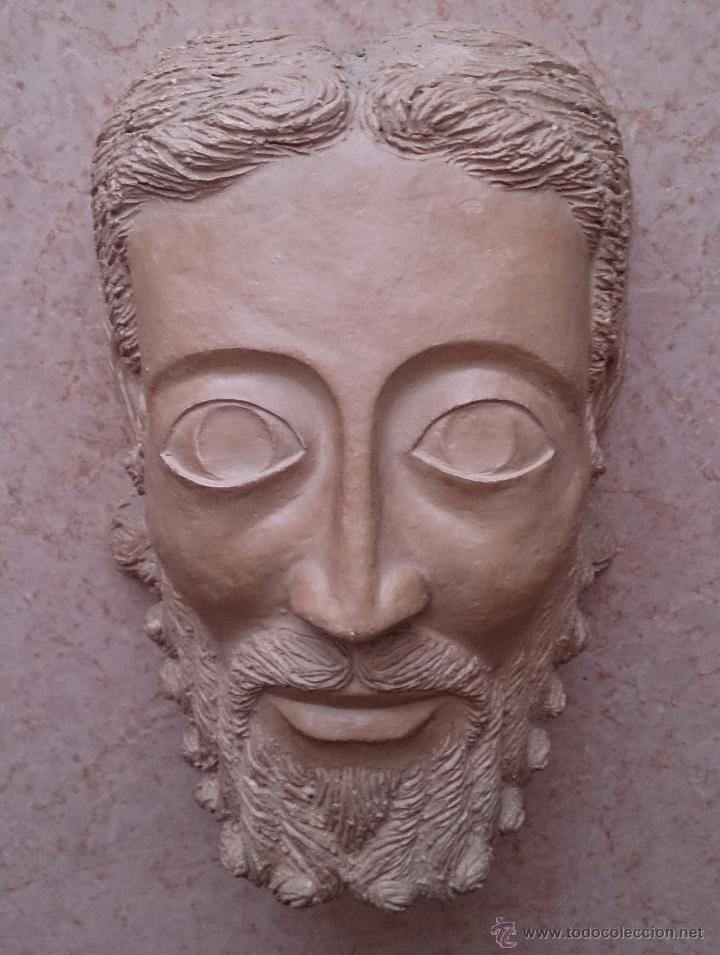 Arte: Cabeza antigua de gran tamaño ( cabeza de cristo ) . - Foto 5 - 46634954