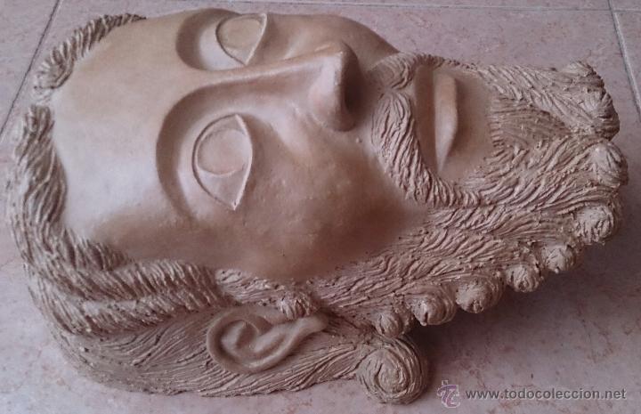 Arte: Cabeza antigua de gran tamaño ( cabeza de cristo ) . - Foto 8 - 46634954
