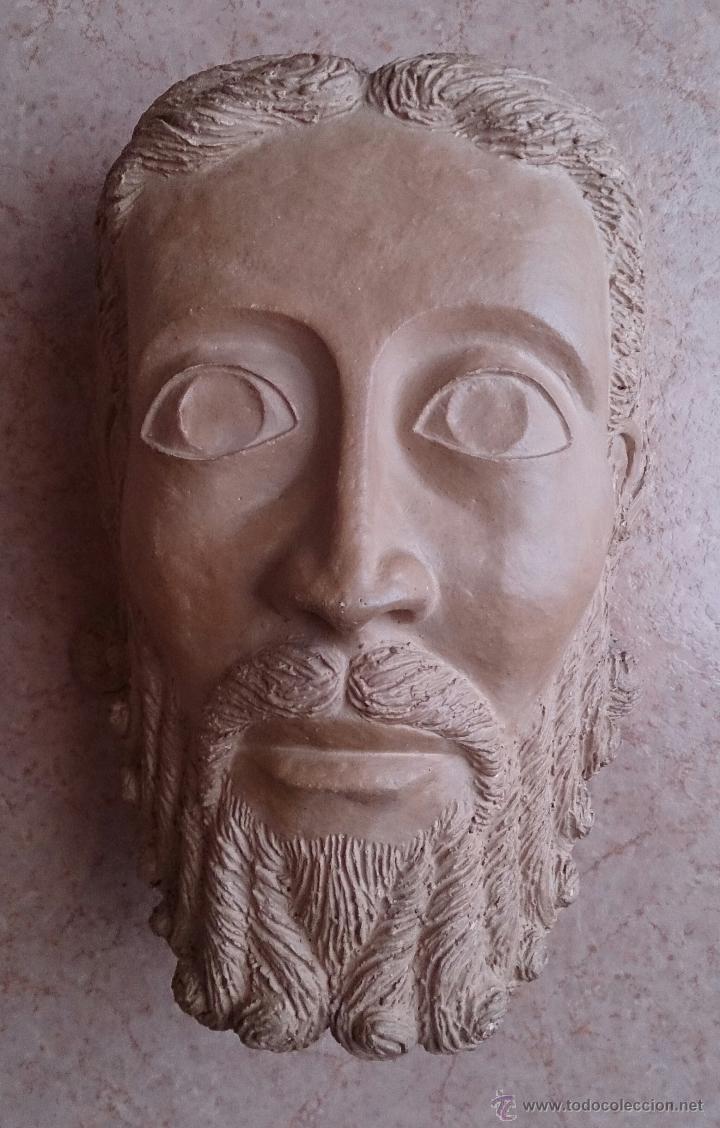 Arte: Cabeza antigua de gran tamaño ( cabeza de cristo ) . - Foto 9 - 46634954