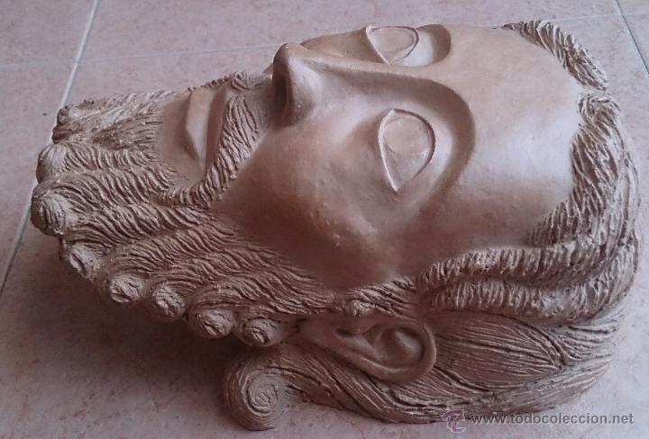 Arte: Cabeza antigua de gran tamaño ( cabeza de cristo ) . - Foto 10 - 46634954