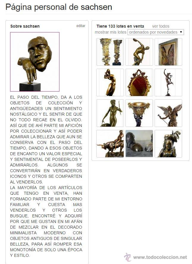 Arte: ESPECTACULAR ESCULTURA DE GRAN TAMAÑO DEL ANGEL DE LA PAZ (95,4cm x 29,7kg) - Foto 13 - 45944585