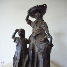 Arte: LA FAMILIA DEL PESCADOR * PINTOR & ESCULTOR EUSTAQUIO SEGRELLES (APROX. 45 KG). Lote 50678324
