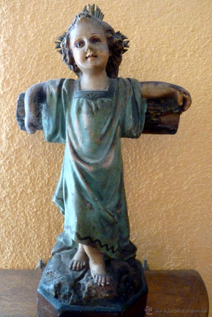 Arte: PRECIOSO NIÑO JESÚS JUNTO A LA CRUZ - Foto 2 - 46969010