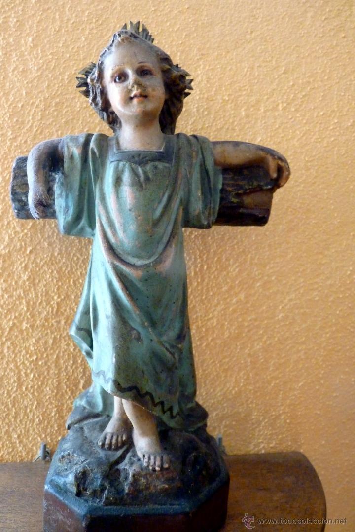 Arte: PRECIOSO NIÑO JESÚS JUNTO A LA CRUZ - Foto 4 - 46969010