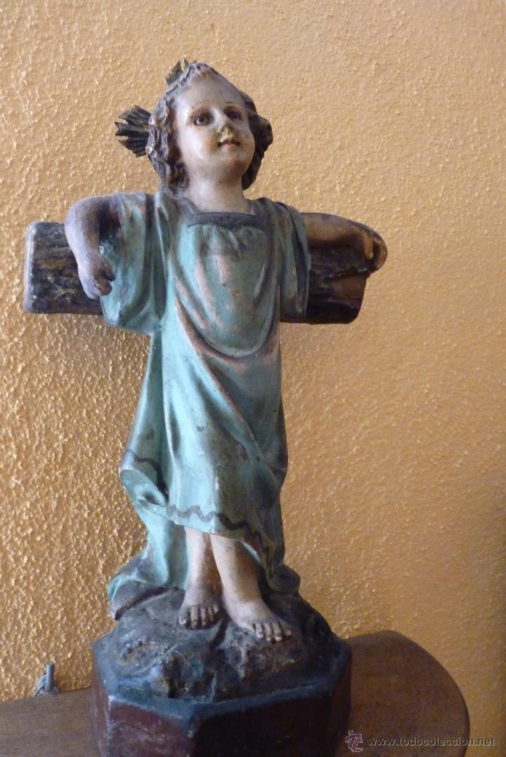 Arte: PRECIOSO NIÑO JESÚS JUNTO A LA CRUZ - Foto 5 - 46969010