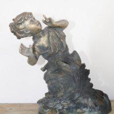 Arte: FANTASTICA FIGURA FRANCESA NIÑO EN BRONCE A LA CERA PERDIDA CIRCA 1890. Lote 46997002