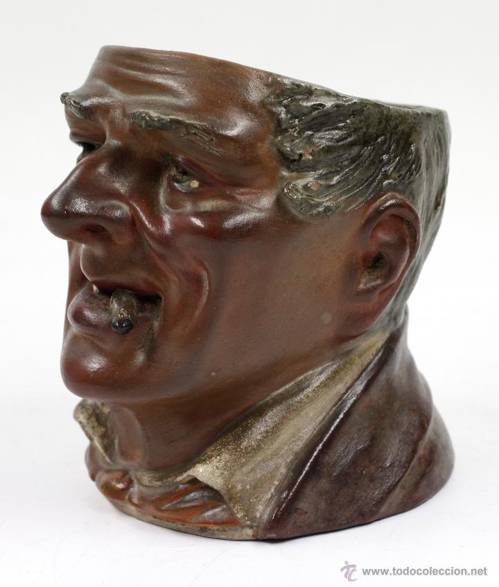 Arte: Busto en terracota, firmado: BUXÓ, OLOT. 12,5 CM DE ALTURA. Ver fotos anexas - Foto 2 - 47137487