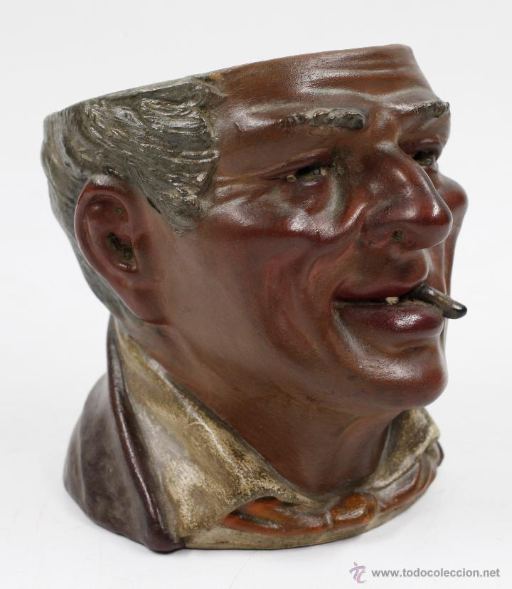 Arte: Busto en terracota, firmado: BUXÓ, OLOT. 12,5 CM DE ALTURA. Ver fotos anexas - Foto 3 - 47137487